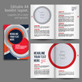 A booklet layout design template with cover and spreads of contents preview for magazine book annual report Royalty Free Stock Images