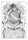 Bookplate, vintage engraving Royalty Free Stock Photo