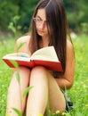 Bookreader Royalty Free Stock Photo
