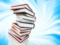 Books on abstract background Royalty Free Stock Photos