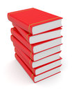 Books close up view of a stack of red d render Royalty Free Stock Photography