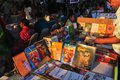 Books displayed at Kolkata Book Fair - 2014 Stock Images
