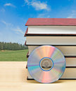 Books and dvd Royalty Free Stock Photo