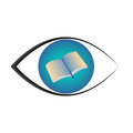 Books eye vector