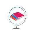 Books Globe vector