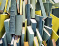 Books heap of blank chaos Stock Image