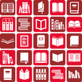 Books icons Royalty Free Stock Image