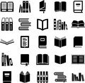 Books icons Royalty Free Stock Images