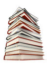 Books isolated on white Royalty Free Stock Images