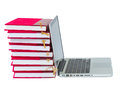 Books and laptop Royalty Free Stock Photo