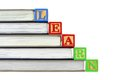 Books and LEARN blocks Royalty Free Stock Photo