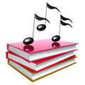Books about learning music Stock Photos