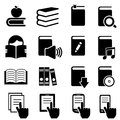 Books literature and reading icon set Royalty Free Stock Image