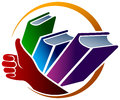 Books logo Royalty Free Stock Photo
