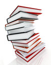 Books massive on glossy Royalty Free Stock Photo