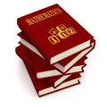 Books of mathematics conceptual three dimensional render for Stock Photography