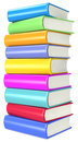 Books pile of colorful Stock Image