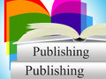 Books publishing shows editor media and non fiction meaning press e Royalty Free Stock Photography