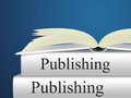 Books publishing shows textbook e publishing and publisher representing fiction publication Royalty Free Stock Images
