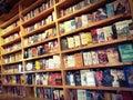 Books reading book shelf novels wooden selling Royalty Free Stock Photo