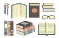 Books set collection of flat icons Royalty Free Stock Image