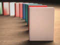 Books several over the table your text or image on the cover clipping path included Royalty Free Stock Image
