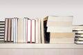 Books on shelf Royalty Free Stock Photo