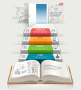 Books step education infographics.