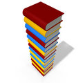 Books tower Stock Photo
