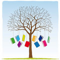 Books on the tree Royalty Free Stock Photo