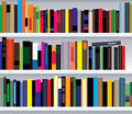 Bookshelf with books Royalty Free Stock Images