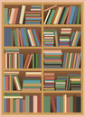 Bookshelf with Pastel Colored Books