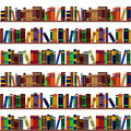Bookshelf pattern seamless made from books Royalty Free Stock Images
