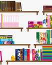 Bookshelf  seamless background Royalty Free Stock Photo