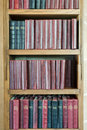 Bookshelf with Vintage Books Royalty Free Stock Photo