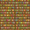 Bookshelves. Seamless background pattern