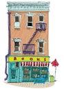 Bookshop building facade. Royalty Free Stock Photo