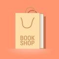 Bookstore, bookshop vector emblem, symbol, icon, logo