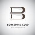 Bookstore logo Royalty Free Stock Photo
