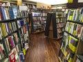 Bookstore shelves of various book at Stock Photos