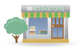 Bookstore small shop for you design Stock Image