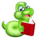 Bookworm Cartoon Royalty Free Stock Photo