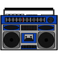 Boom box cartoon illustration showing an eighties style Royalty Free Stock Images