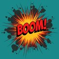 Boom comic book explosion Royalty Free Stock Photo