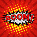 Boom comic speech bubble cartoon Stock Image