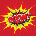 BOOM! comic word Royalty Free Stock Photo