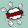 Boom comics icon over dotted background vector illustration Royalty Free Stock Image