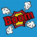 Boom comics icon over dotted blue background vector illustration Royalty Free Stock Photography