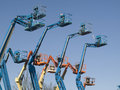 Boom cranes Royalty Free Stock Photo