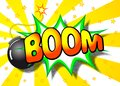 Boom explosion vector illustration of a cartoon with the word Royalty Free Stock Images